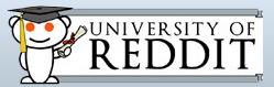 Theuniversity of reddit