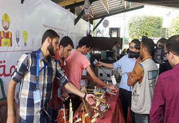 معرض خاص بمشاريع التخرج الريادية لخريجي الجامعات .